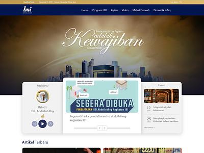 Konsep Web Yayasan religion web design ui  ux design ui