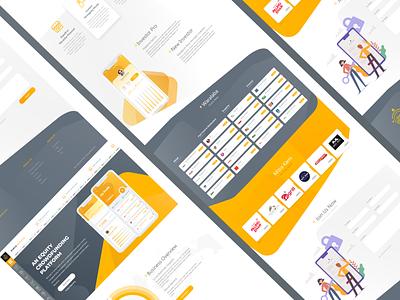 Fintech Business illustration icon web marketplace web company ux shop ecommerce vector company app bussiness branding app web ui  ux design design ui