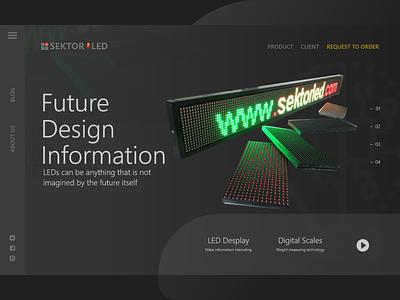 LED Technology minimal icon flat animation web design illustration web marketplace web company vector ux shop ecommerce company app bussiness branding app web ui  ux design design ui