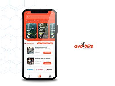 AyoBike Mobile App ios app mobile app ui  ux design design ui