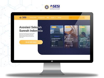 Asesi branding web ui  ux design design ui
