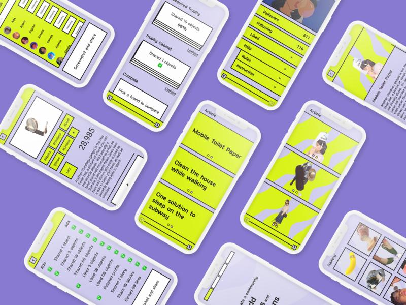 muti screen app ux ui design color palette typography minimal design branding