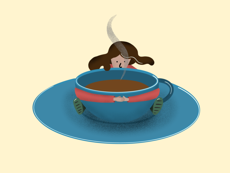 Tea Time cup cozy cute product illustration tea illustration