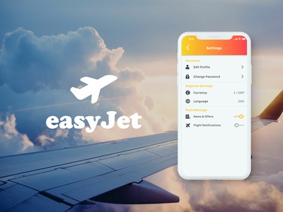 #7 Daily UI Challenge / Easy Jet Settings Page