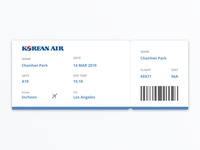 #24 Daily UI Challenge / Boarding Pass