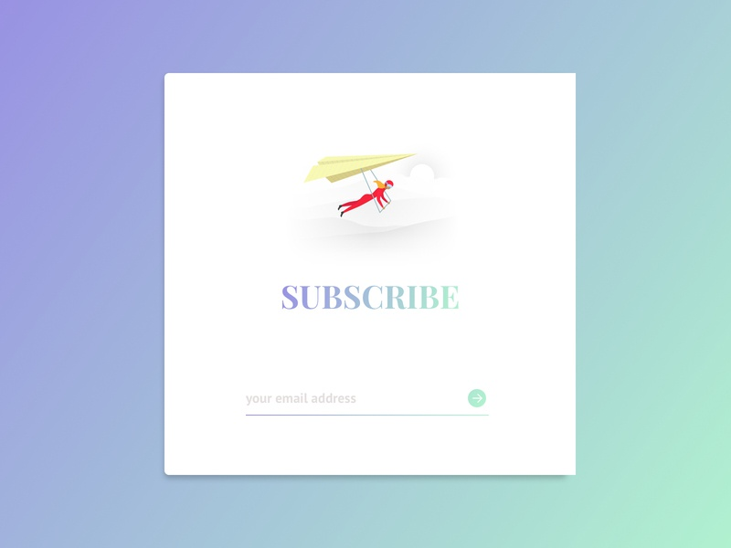 #26 Daily UI Challenge / Subscribe illustration design ux subscribe form ui subscribe dailyui 026 dailyuichallenge