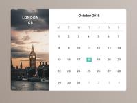 #38 Daily UI Challenge / Calendar