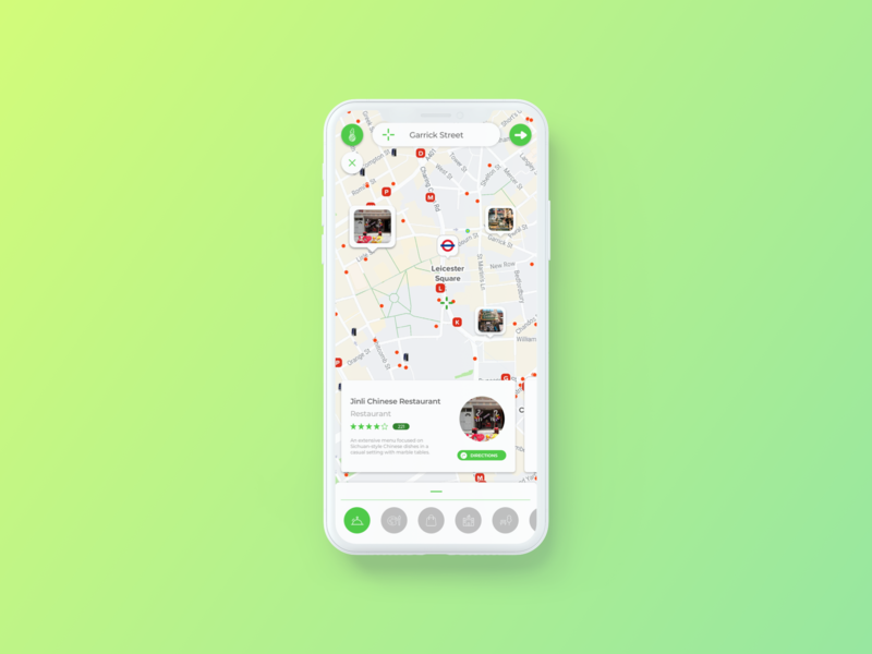 Citymapper (Tourist-Mode, Concept Design) map ui map design mobile ui ux uiux ui map citymapper