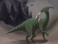 Parasaurolophus Friend