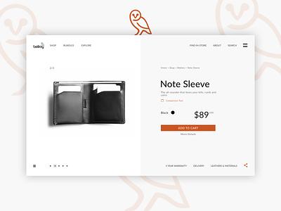 Single Product E-Commerce Shop dailyui012 dailyui single product product page ecommerce design ecommerce bellroy flat ui  ux