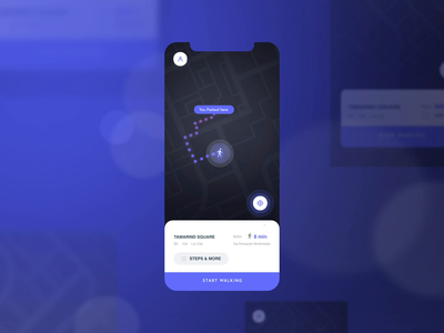 Location Tracker for Car Parking App daily ui 020 tracker app iphone xr mobile motion micro interaction map location pin purple parking parking app location tracker adobe after effects ux micro interactions interaction design animation dailyui ui  ux ui