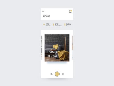Smart Home Monitoring App one page minimalist clean smart house mobile micro interaction monitoring dashboard smart home app smart home monitoring dailyui 021 dailyui adobe photoshop cc adobe after effects motion interaction design flat ux ui ui ux