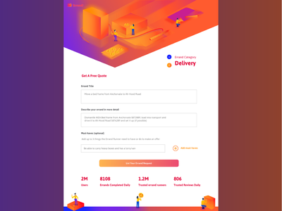 Errand Fill Up Form UI Page