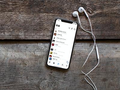 Music App Mockup ios app music player music app