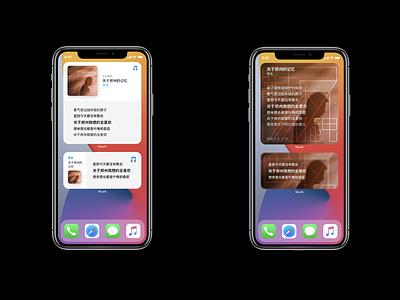 Lyrics Widgets for iOS 14 musicplayer ios14 widgets