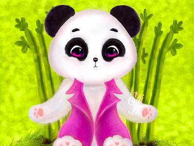 The little Tobi / El pandita Tobi fashion modern nature visual design adorable lovely drawing animation app photoshop kawaii digital creative concept color animal digitalart cute art artwork arte adorable
