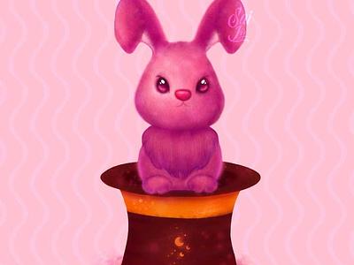 Surprise bunny / Conejito sorpresa art ilustrative art magician magic diseñografico ilustrations ilustration design ilustration kawaii art kawaii cat adorable lovely creative arte concept animal digitalart cute art artwork adorable