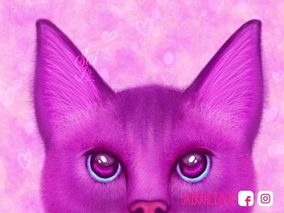 Magic eyes / Ojos magicos animation ilustrator design cute illustration cute animals cute animated cats cat animals adorable lovely kawaii creative animal concept arte artwork digitalart cute art adorable
