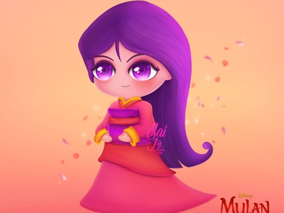 Ilustration FanArt Mulan cute color art adorable lovely creative concept artwork adorable digitalart cute art