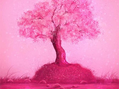 Cherry blossom - Sakura Tree color art kawaii adorable lovely creative concept artwork adorable digitalart cute art