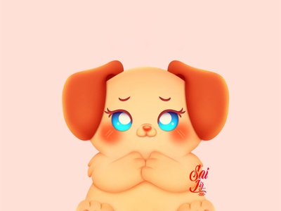 Ruffino, the kawaii puppy. art animal kawaii adorable lovely creative concept artwork adorable cute art digitalart