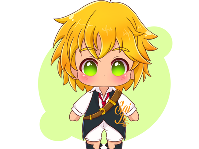 Meliodas from the 7 deadly sins. Adorable version color animal kawaii adorable lovely creative concept arte adorable cute art digitalart fanart