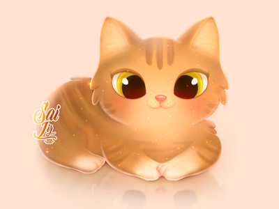 Cat adorable ilustration animals magic cute kawaii graphic design animation illustration design adorable lovely creative artwork concept adorable cute art digitalart