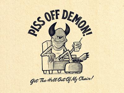 Get Out Of My Chair Demon! true grit texture supply procreate retro design artwork hand drawn textures mental health mentalhealth mental health awareness vintage retro illustration photoshop drawing digitalart illustrator graphicdesign design
