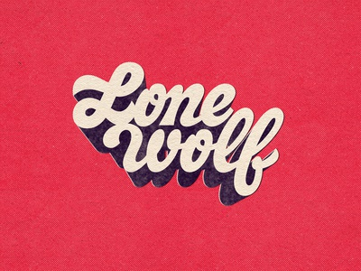 Lone Wolf shadow type vintage logo type retro typography drawing photoshop vector handlettering lettering typography graphicdesign design