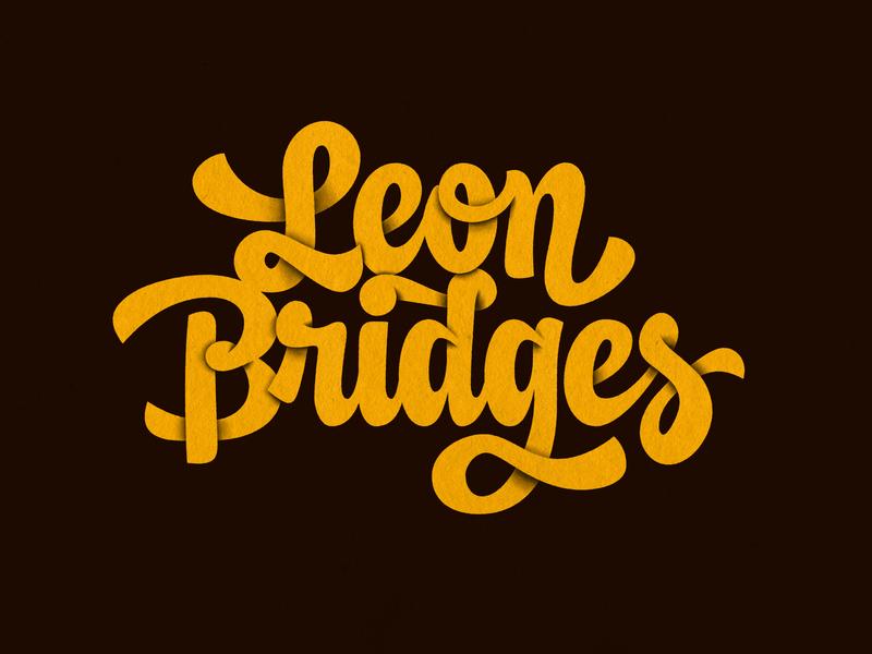 Leon Bridges texture vintage script lettering music leon bridges retro handlettering type photoshop lettering illustrator digitalart vector typography graphicdesign design