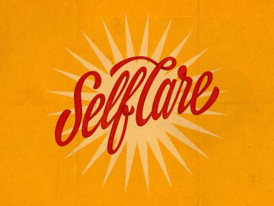 Self Care vintage mentalhealth textured midcentury script lettering handlettering type photoshop lettering vector illustrator digitalart typography graphicdesign design