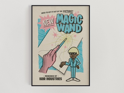 NEW MAGIC WAND - A1 Poster vector procreate igor music tyler the creator print poster vintage retro photoshop illustration drawing lettering illustrator typography graphicdesign design