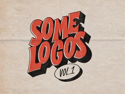 SOME LOGOS VOL. 1 behance letters logofolio retro vintage logodesign logotype logos drawing illustrator type vector photoshop lettering digitalart typography graphicdesign design
