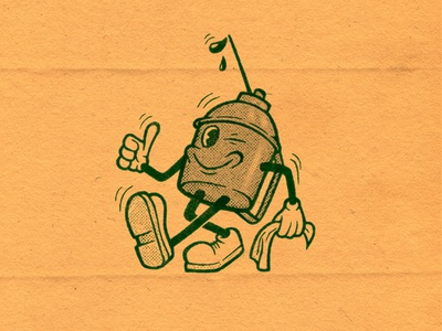 Oil Can - Character design character car oil can print stamp rubberhose vintage retro truegrittexturesupply cartoon characterdesign illustration drawing illustrator graphicdesign design