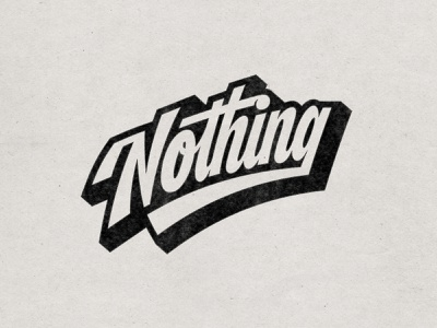 A Whole Lot Of Nothing textures script lettering pattern procreate logodesign logotype logo truegrittexturesupply handlettering handlettered drawing type illustrator vector photoshop lettering digitalart typography graphicdesign design