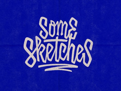 Some Sketches behance portfolio handlettering letters textures type words sketches procreate logo photoshop lettering typography graphicdesign design