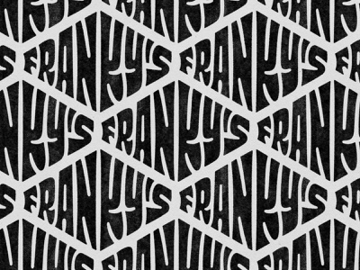 Franky's Hats - Lettering vector procreate logodesign amsterdam letters branding print hats textures handdrawn pattern handlettering logo type photoshop digitalart lettering typography graphicdesign design
