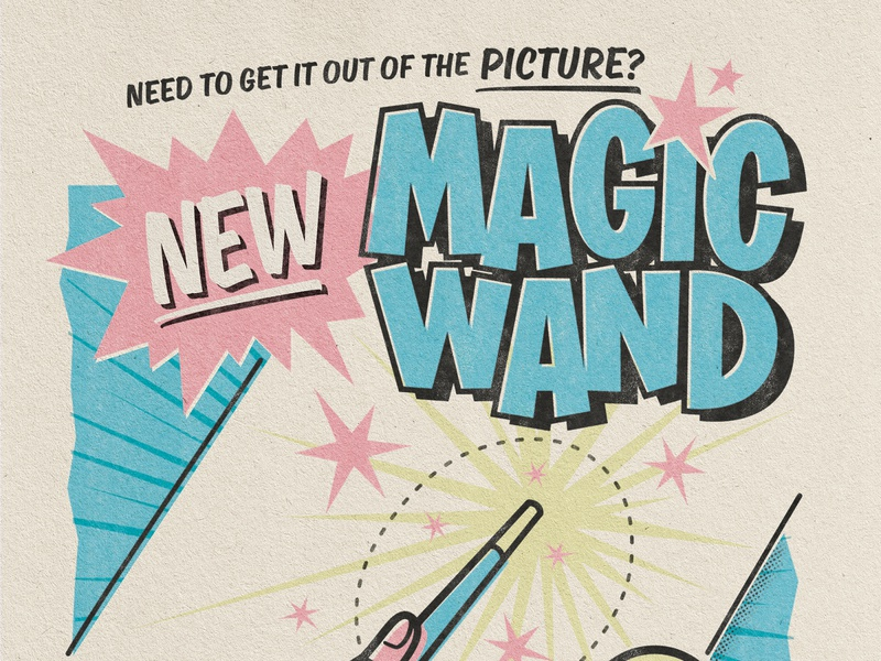 NEW MAGIC WAND POSTER retro tyler the creator igor fanart photoshop procreate poster type drawing digitalart cartoon lettering illustration typography illustrator graphicdesign vector design
