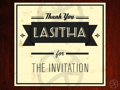 Thank you for the Invitation invitation thanks thank you