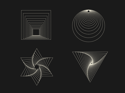 Dimensions logomark symbol logo branding visual identity icon illustration vector design