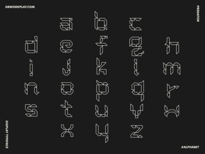 Predator Display Typeface typography type logomark symbol logo icon vector design