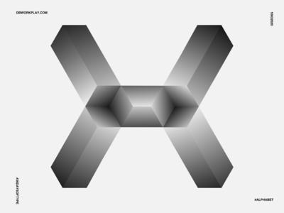H/1/2X type logomark branding visual identity symbol logo icon illustration vector design
