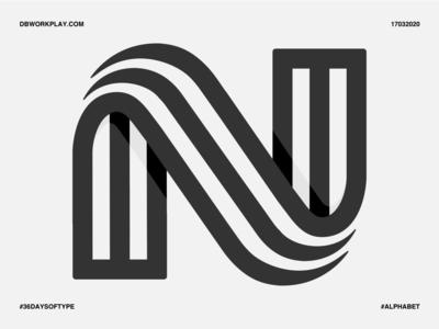 N type logomark branding visual identity symbol logo icon illustration vector design