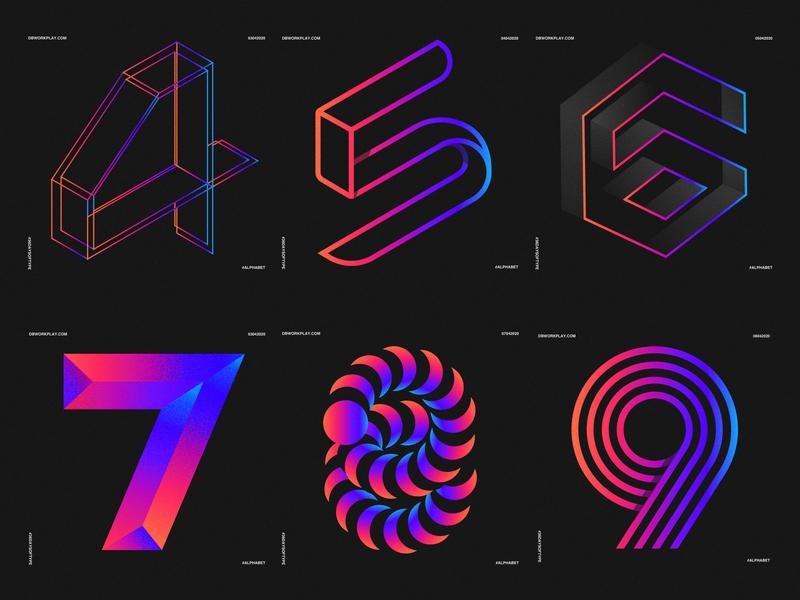 Numbers type logomark branding visual identity symbol logo icon illustration vector design