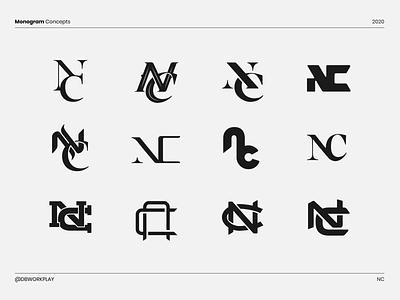 NC Monograms logodesigner logodizajn logodesign branding design brandidentity branding logo logomark monogram logo monogram