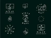FID Logo Badge Exploration dbworkplay visual identity brand identity branding logobadge logodizajn logodesign logo badge