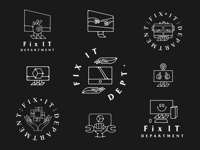 Fix IT Department⁣ vizualniidentitet brandidentity brand branding visualidentity logotype logomark logolockup badgedesign logodizajn logodesign badge logo