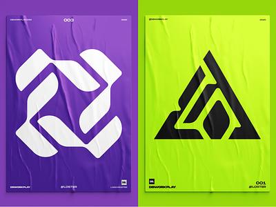 Logo posters dbworkplay logoinspiration identity visualidentity brandidentity branding brand poster logoposter logomark logodizajner logodesign logo