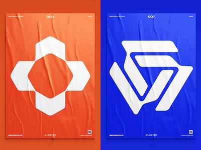 Logos on posters logodizajn logodesigner dbworkplay visualdesigner visualidentity brandidentity brand branding logoinspiration graphicdesign logodizajner logodesign logomark poster logo