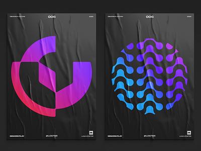 Logos on posters posterdesign brandidentity brand dbworkplay logodizajner logosymbol logomark logodesign logodesigner visualidentity branding logo